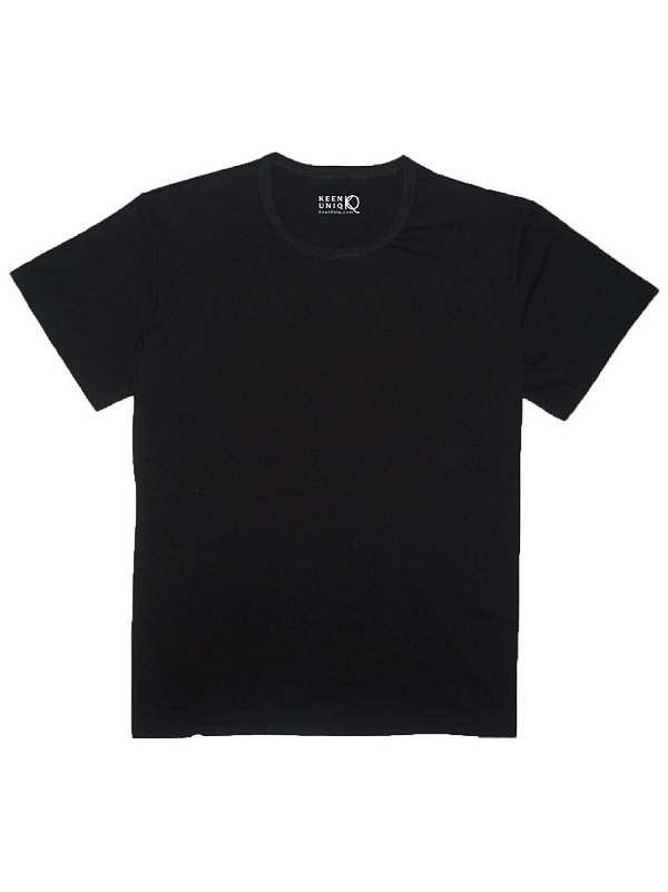 High Quality Men and Women Bamboo Black T-shirt - Keen Uniq