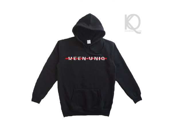 Eco black hoodie keenuniq cool red design