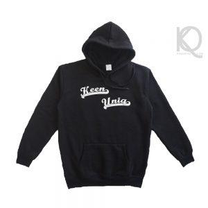 Eco black hoodie keenuniq fancy design