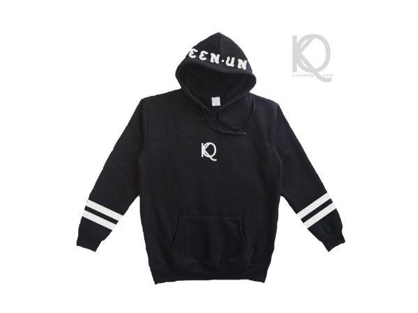 Eco black hoodie keenuniq hood design