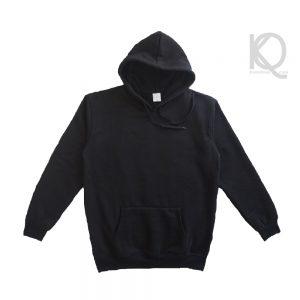 Eco black plain hoodie keenuniq