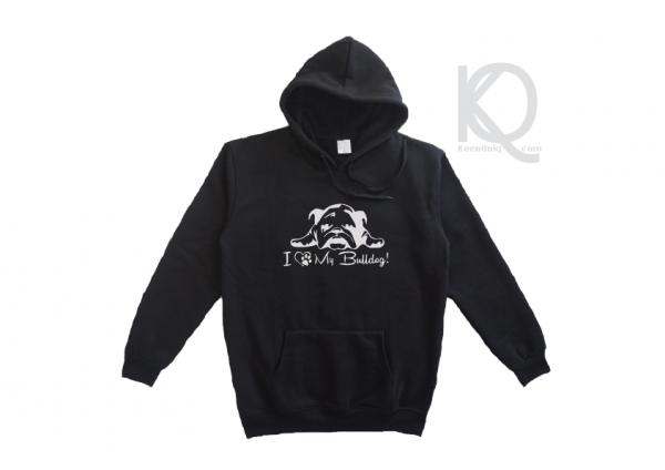 I love my bulldog hoodie design