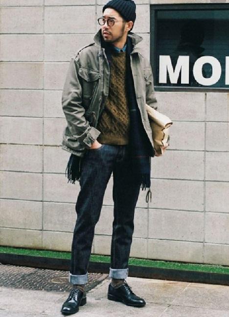 Japanese men winter autumn fashion