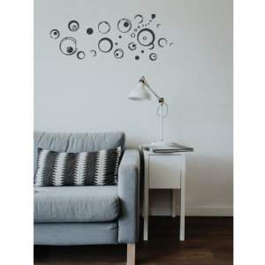 abstract bubble wall decal design
