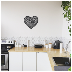 abstract love wall decal design