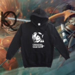 attack on titan anime pull up hoodie
