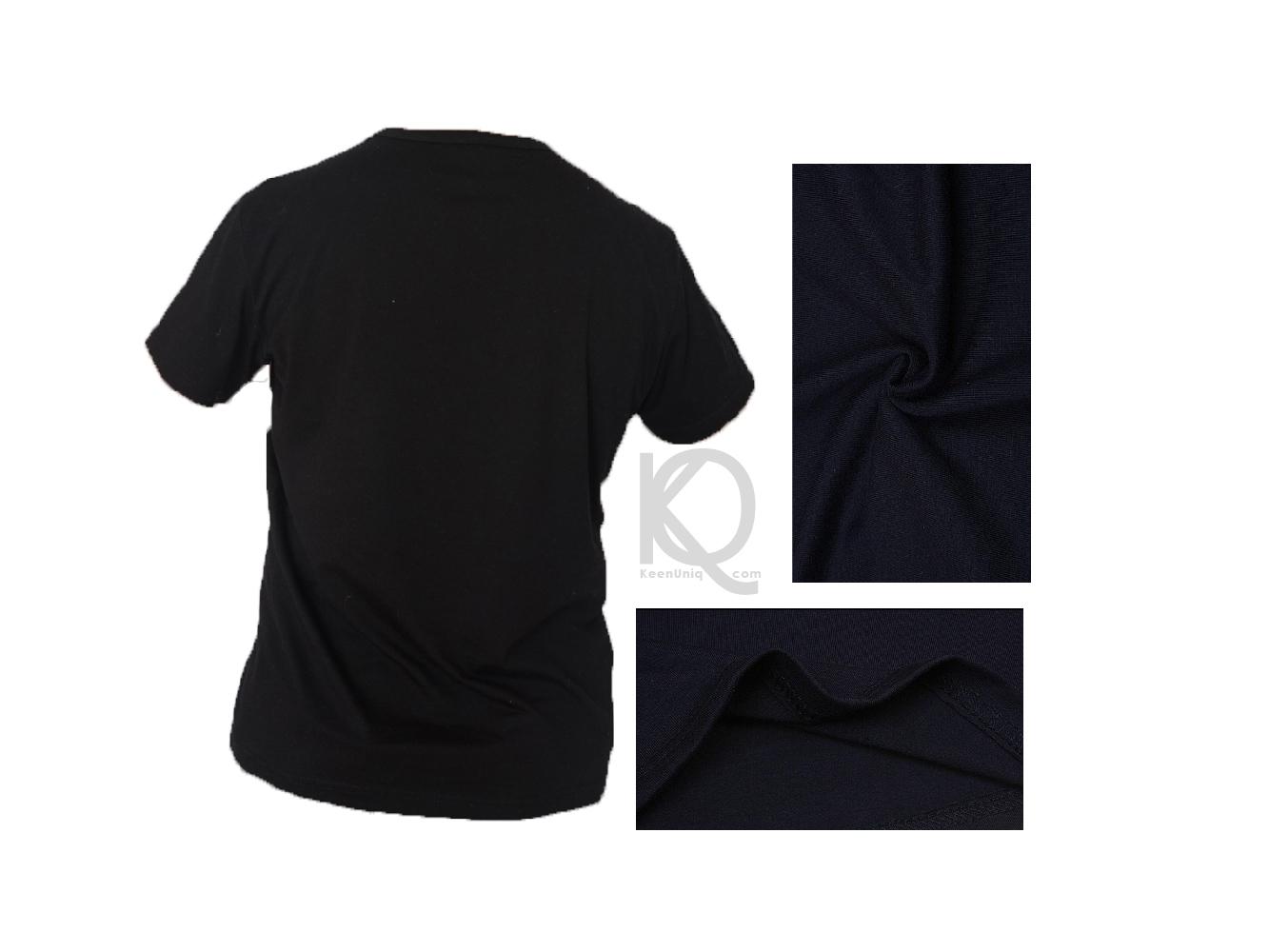 05e84b0f bamboo blank black t-shirt keenuniq; bamboo t-shirt back detail ...