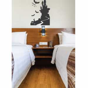 bat and castle wall decal design