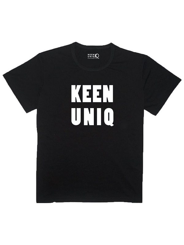 bamboo black t-shirt keenuniq classic