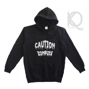 caution zombies hoodie design