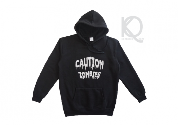 caution zombies hoodie design