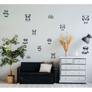 cute panda wall decal design