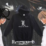 death note anime pull up hoodie