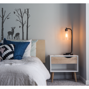 deer and trees wall decal design