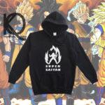 dragon ball anime pull up hoodie
