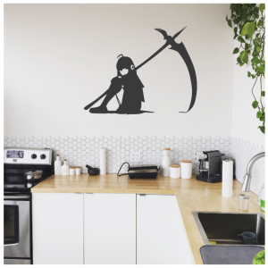 fighter girl wall decal design