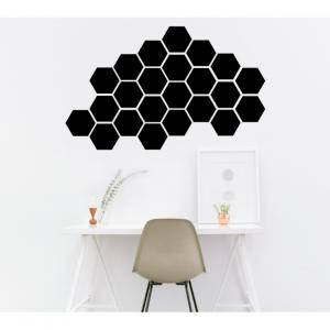 hexagon wall decal design