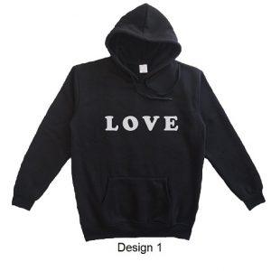 hoodie quote love design 1