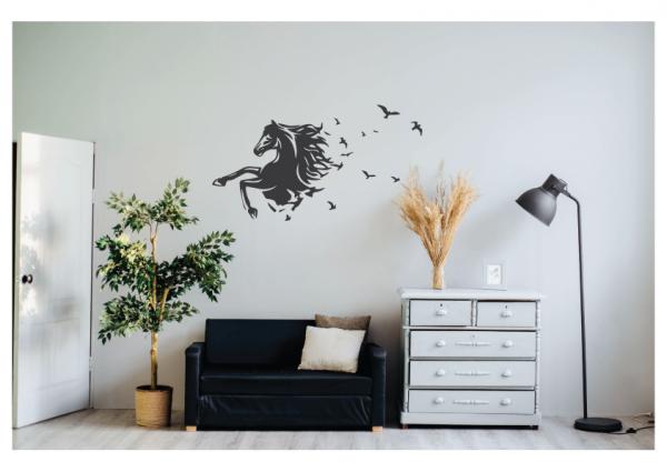 horse bird fantasy wall decal design