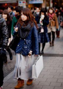 japanese women winter autumn trend