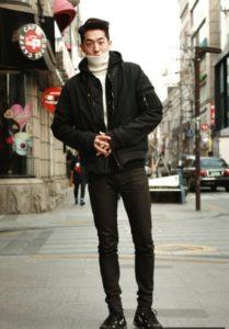 korean men winter autumn trend