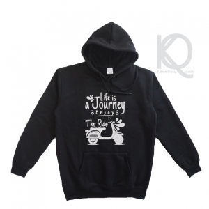 life is a journey enjoy the ride design hoodie