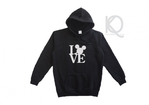 love mickey mouse hoodie design