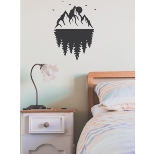 mountain forest wall decal design