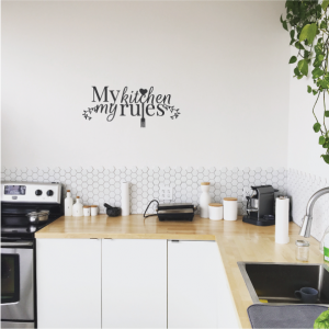my kitchen my rule wall decal design