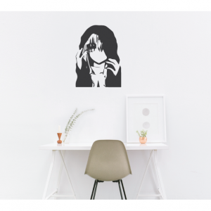 mystery girl wall decal design