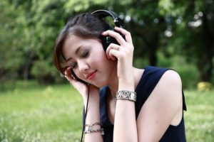 Optimism through listening music