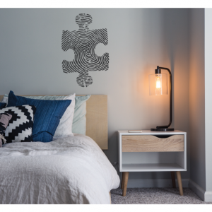 puzzle thumbprint wall decal design