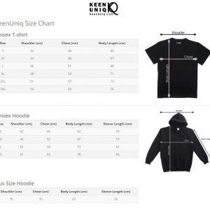 e80d8cc5 High Quality Men and Women Bamboo Black T-shirt · Unisex T-Shirt · size  guide keenuniq