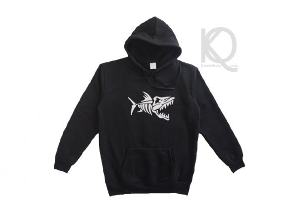 skeleton fish hoodie design