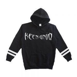 special design black hoodie keenuniq