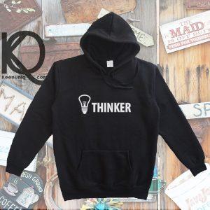 thinker pull up hoodie
