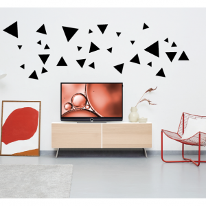 triangles wall decal design