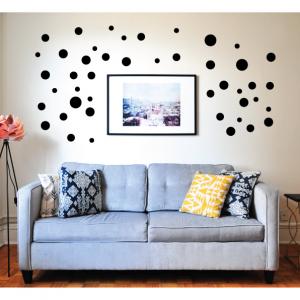 variety circles wall decal design