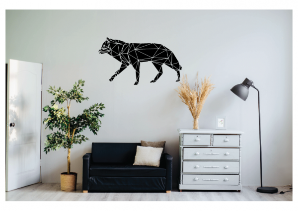 wolf wall decal design