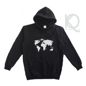 world map hoodie design